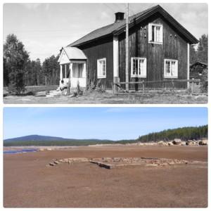 Arntsgården ved Långflon 1955 og 2014