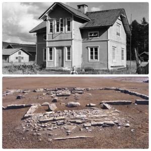 Håkagården ved Långflon 1955 og 2014