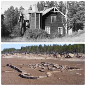 Torget ved Långflon 1955 og 2014